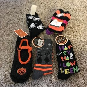 Bundle Of 6 Halloween Socks NWT